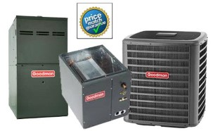 5 Ton Goodman GSX160601F CAPF4961C6D GME81005CNB SEER 15 Air Conditioner GAS FURNACE Split System