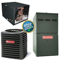 2 Ton Goodman GSX160241F CHPF2430B6C GME80603BNB SEER 15 Air Conditioner GAS FURNACE Split System