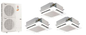 Mitsubishi Tri Zone Ceiling Recessed MXZ4C36NA SLZKA12NA (THREE)