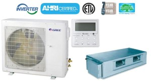 GREE UMAT30HP230V1AO UMAT30HP230V1AD 30,000 BTU SEER 16 Concealed Duct Air Conditioner Heat Pump