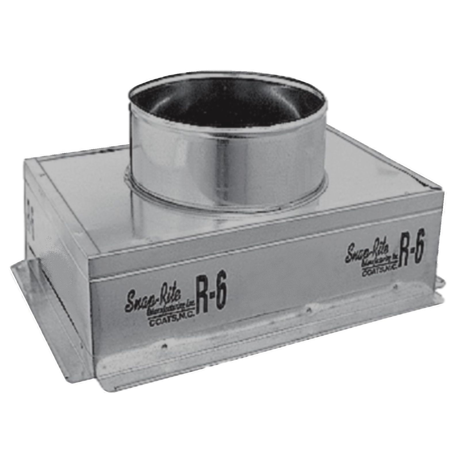 "Snap-Rite 14X08X093600FG - Metal Top Insulated Register Box With Flange and Gasket, 14"" x 8"" x 9"" - R6"