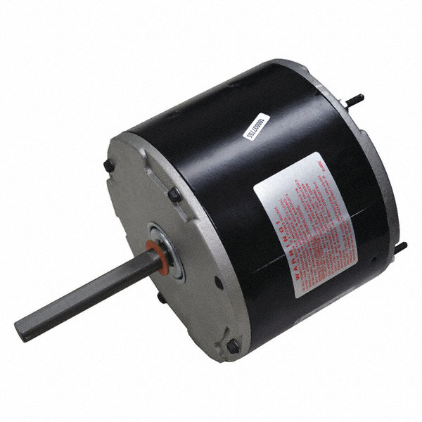 CENTURY 1/5 HP Direct Drive Motor, Permanent Split Capacitor, 825 Nameplate RPM, 208-230 VoltageFrame 48Y