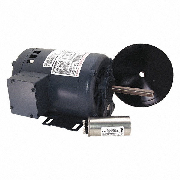 CENTURY 3/4 HP Direct Drive Motor, Permanent Split Capacitor, 1100 Nameplate RPM, 208-230/460 Voltage