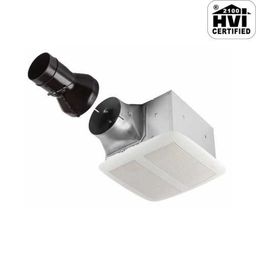 NuTone RN110 110 CFM .6 Sone Ceiling Mounted HVI Certified Bath Fan from the ULTRA PRO Collection