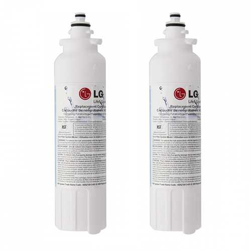 Original Water Filter Cartridge for LG LSXS26366D Refrigerator - 200 Gallon/6-Months (Pack of 2)