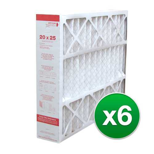 Replacement Pleated Air Filter for For Honeywell FC100A1037 HVAC 20x25x4 MERV 11 (6 Pack)