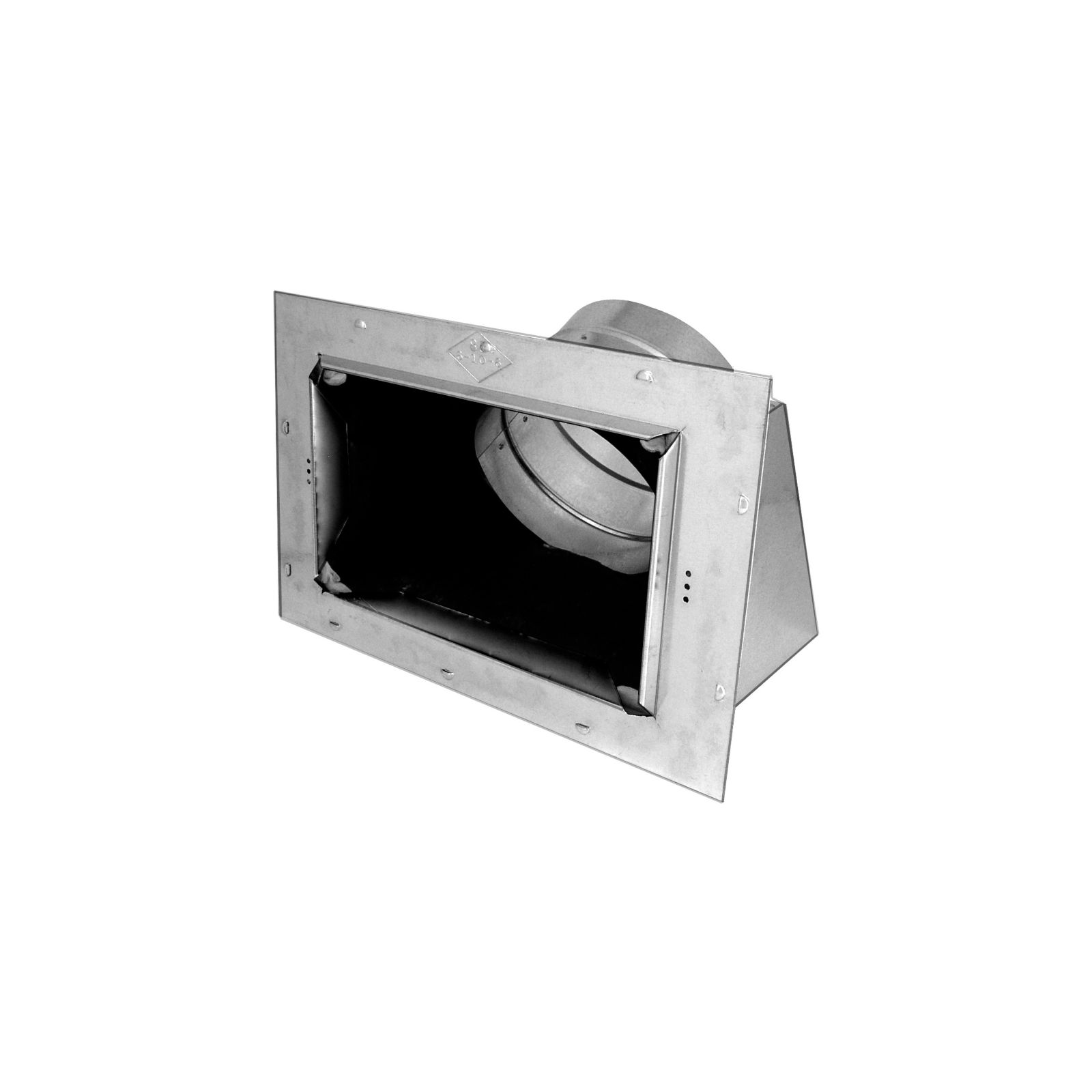 "Southwark 86R84106 - Insulated Ceiling Box Slant Top with Flange and Outlet, 4"" X 10"" X 6"""