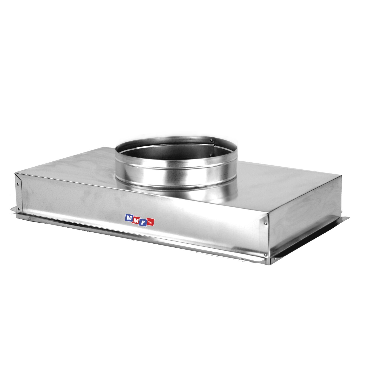 "Modular Metal ACRH1212AS - Return Air Can - 28 Gauge - Raw - Seal All Seams 12 1/4"" X 12 1/4"" - Uninsulated - 4"" High Box"