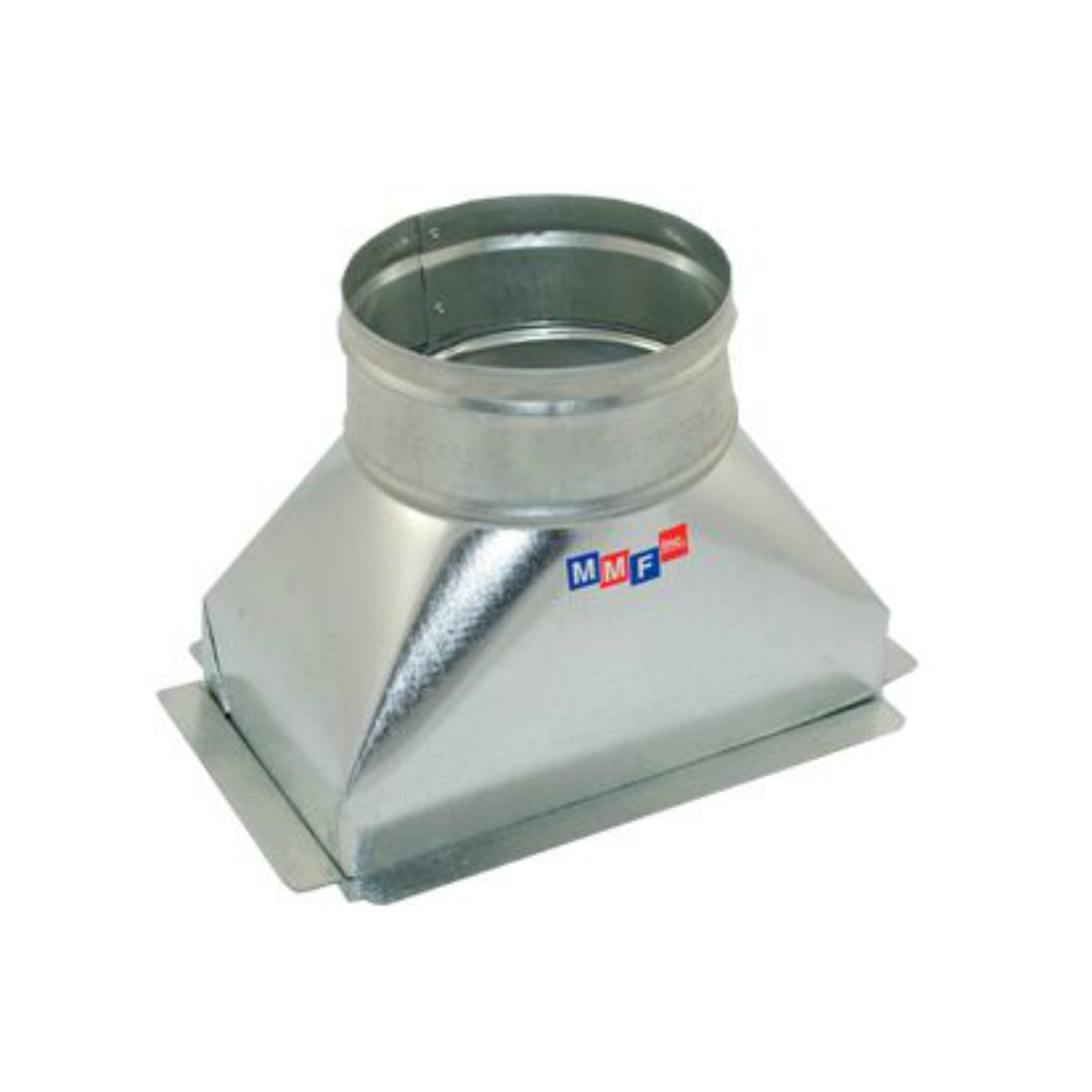 "Modular Metal BTSFG100605E - Sealed Floor Box - 30 Gauge 10"" X 06"" To 05"" Round - With Plaster Ground Flange & Ears"