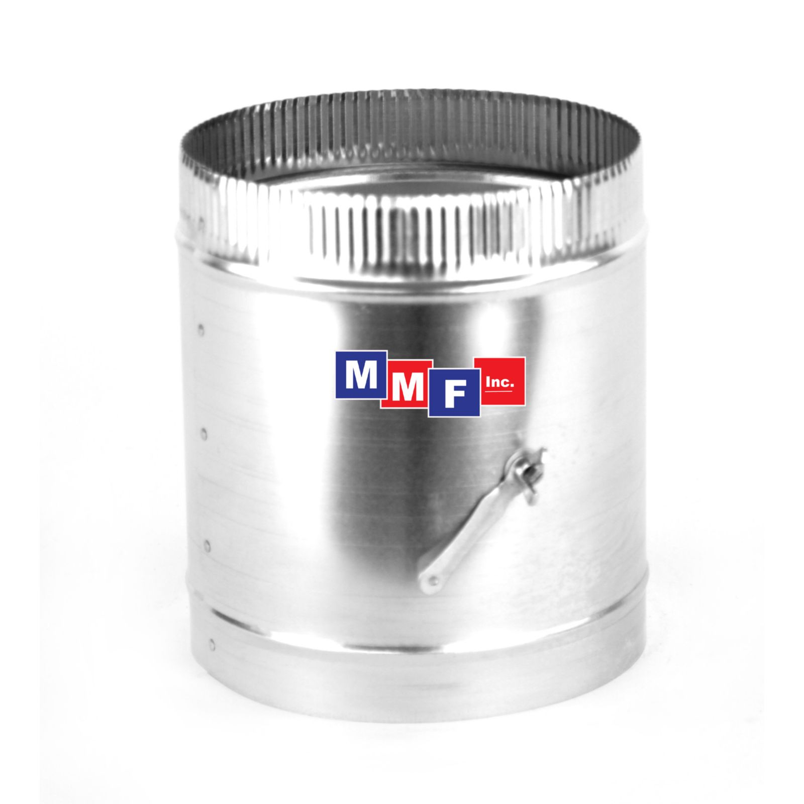 "Modular Metal DMSI0406IBC - Sleeve - 26 Gauge With 26 Gauge Damper 04"" Round X 09"" High - Bead/Crimp One End"